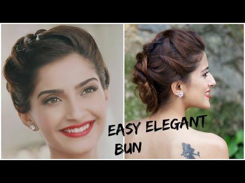 Sonam Kapoors Glamorous Hairstyle 5 Minute Romantic Bun Hairstyle
