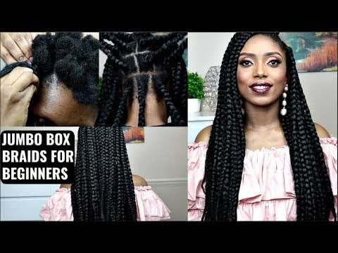 How To  Jumbo Box Braids Tutorial On Short Natural Hair For Beginners