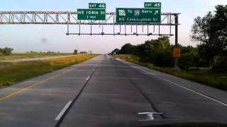 Interstate 435 East in Kansas City, Missouri. Handmade gps-track.