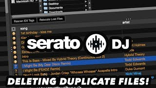 Serato DJ Tips & Tricks – How To Delete Duplicate Files!