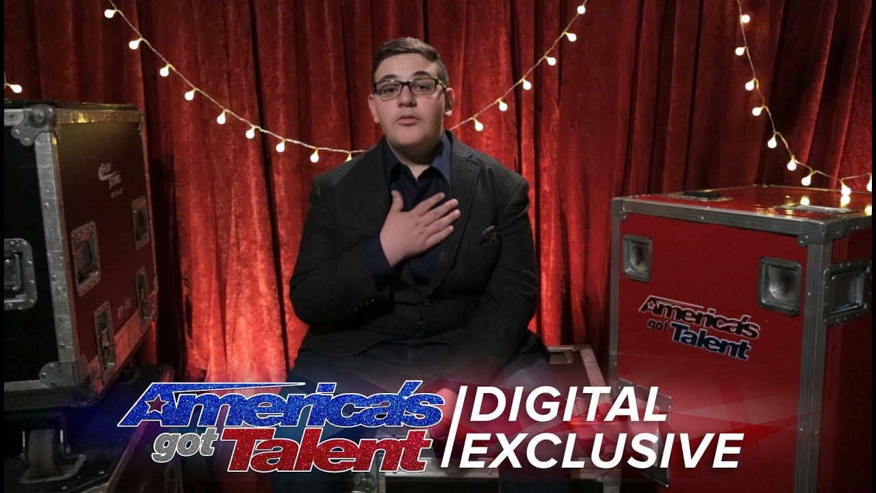 Christian Guardino Thanks Howie for the Golden Buzzer - America's Got Talent 2017 thumbnail