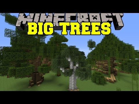 Minecraft: BIG TREES (MORE TREES AND GIANT SIZES!) Mod Showcase