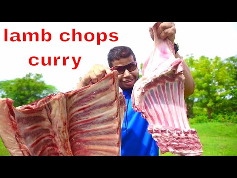 BEST LAMB MEAT COOKING IN WILD || LAMB CHOPS CURRY RECIPE || HYDERABADI STYLE MUTTON GRAVY RECIPE