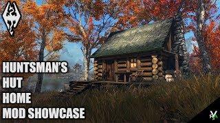HUNTSMAN'S HUT: Beautiful Cabin Player Home- Xbox Modded Skyrim Mod Showcase