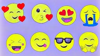 Emoji Drawings Step By Step | Easy Emoji Drawings