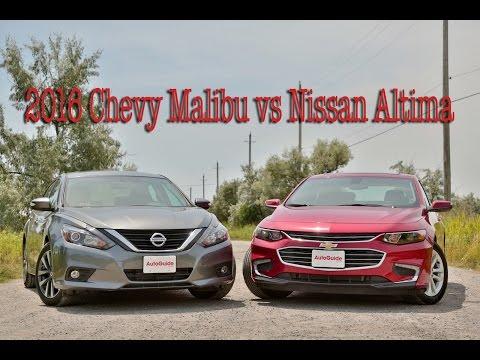 2016 Chevrolet Malibu vs Nissan Altima