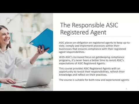 The Responsible ASIC Registered Agent – In-depth training for ASIC Administrators