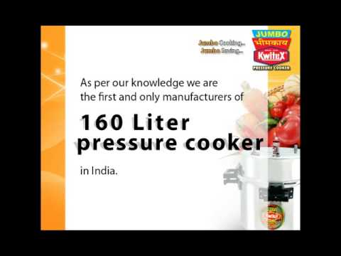 WORLD''S LARGEST JUMBO PRESSURE COOKER 160 LTR