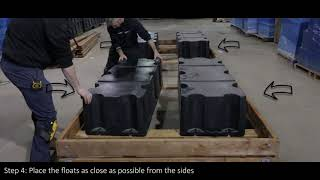 How to install : floats on floating dock