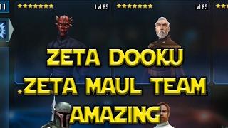 Star Wars: Galaxy Of Heroes - ZETA Dooku With ZETA Maul Is Amazing