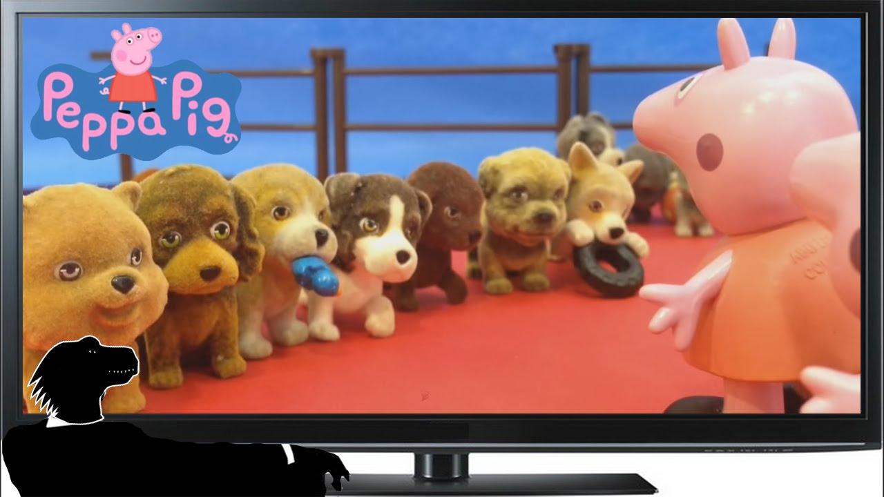 Peppa Pig y George Pig empiezan el curso adoptando un perro.