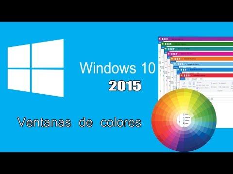 Como cambiar el color de ventanas en Windows 10