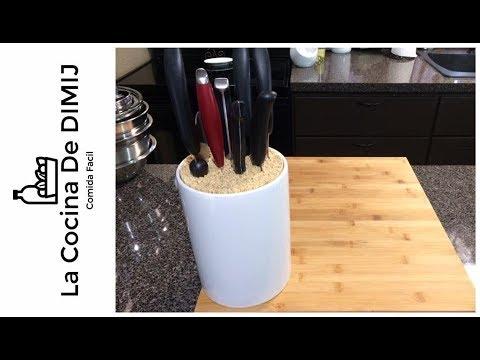 Base para cuchillos(DIY) Como hacer una base para guardar tus cuchillos