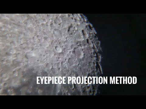 Eyepiece Projection Method for dslr astrophotography