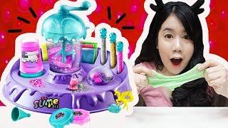 รีวิว เครื่องทำสไลม์ ~ ของเล่นสุดฮิต!! ทำง่ายมากเว่อร์ ♡ | Slime Factory - dooclip.me
