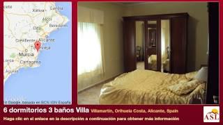preview picture of video '6 dormitorios 3 baños Villa se Vende en Villamartin, Orihuela Costa, Alicante, Spain'