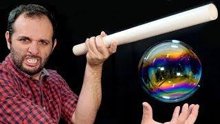 Como fazer bolhas flutuarem com eletricidade - Video Youtube