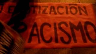 Inmigrantes racistas exigen exterminio de la raza blanca. Plan Kalergi. MADRID 12/11/17