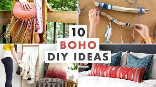 10 Boho Decorating DIYs - Bohemian Wall Art, Macrame And Furniture Projects - HGTV Handmade