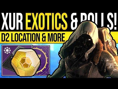 Destiny 2 | XUR'S EXOTICS & GEAR ROLLS! Xur Location, Bounties & Enhanced Exotic | 19th July 2019