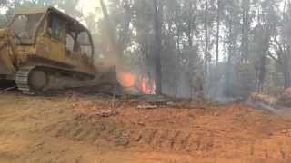 Bulldozers working at fires