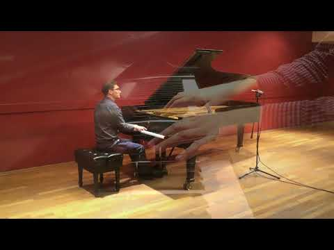 "Me performing ""The Alcotts"" from Ives' Concord Sonata."