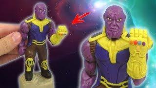 ЛЕПИМ ТАНОСА из фильма МСТИТЕЛИ: ВОЙНА БЕСКОНЕЧНОСТИ | Thanos Plasticine Tutorial