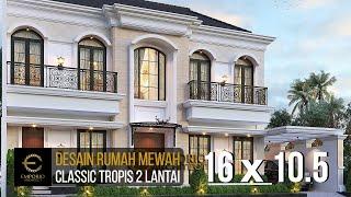 Video Desain Rumah Klasik 2 Lantai Bapak Andry Wisnu di  Jakarta