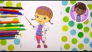 Лікар Плюшева розмальовка / Доктор Плюшева супер раскраски / Doc McStuffins kids coloring page