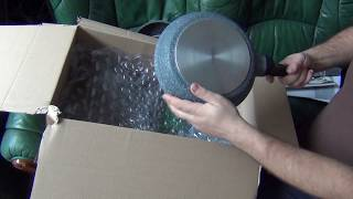 Unpacking Granite Stone Non Stick Frying Pan Set by ProCook