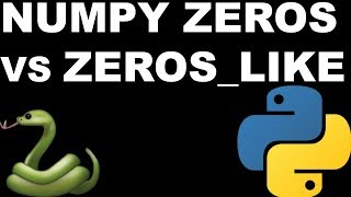 Python: np.zeros vs np.zeros_like