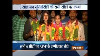 ABVP wins all seats in University of Hyderabad Students' Union Election