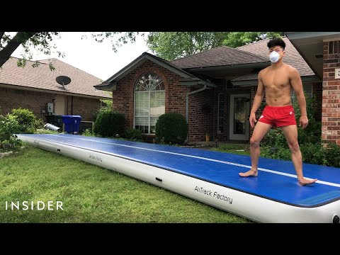 How a Professional Gymnast Stays Fit During a Pandemic