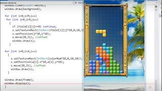 Let's make 16 games in C++: TETRIS
