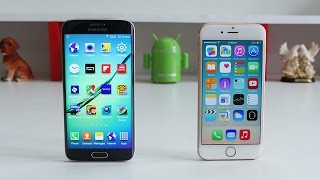 Samsung Galaxy S6 Edge vs iPhone 6 Speed Test 4K