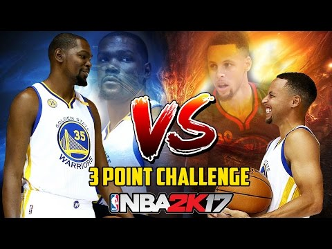 Stephen Curry vs Kevin Durant - Ultimate 3 Point Challenge | NBA 2K17