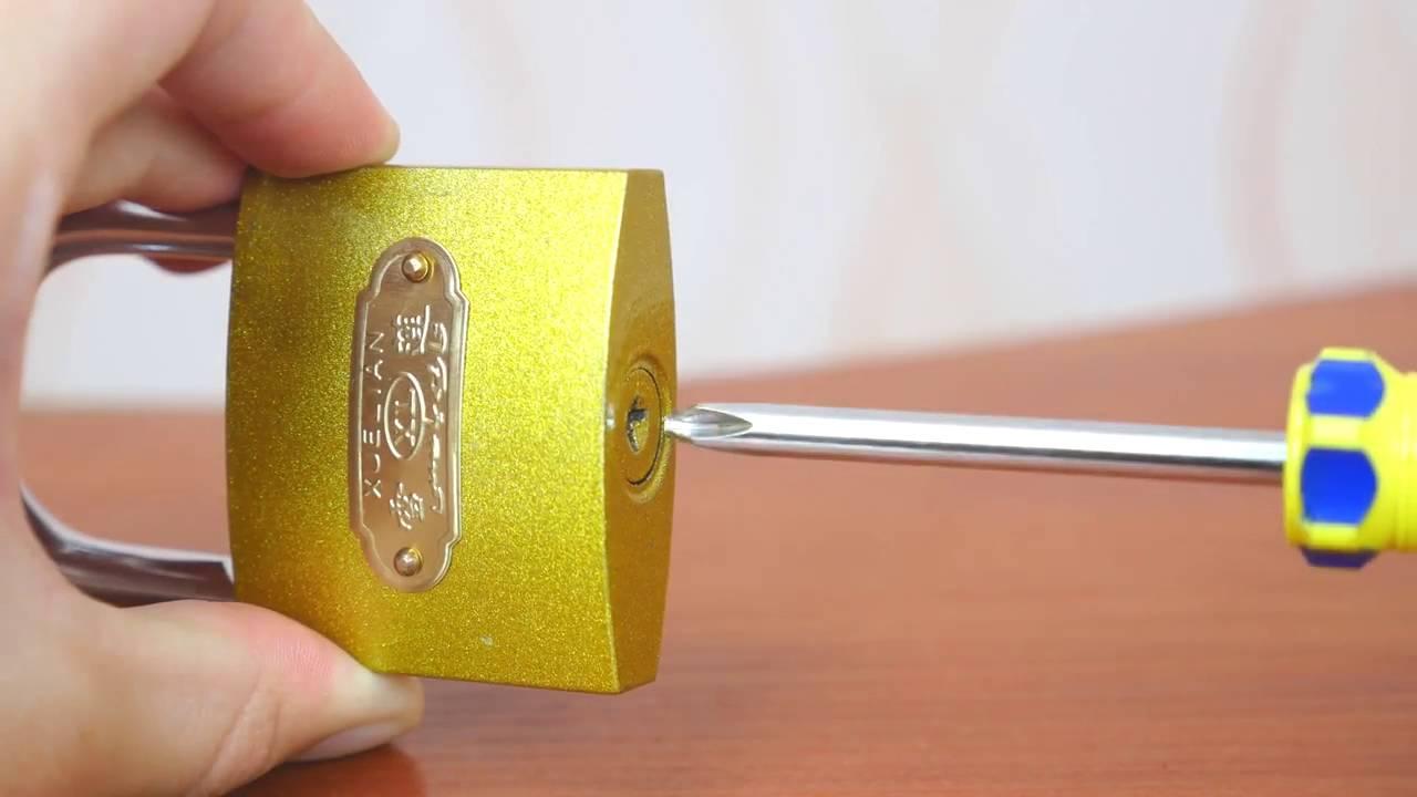 3 semplici modi per aprire un lucchetto senza chiave ★ VIDEOTUTORIAL