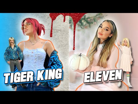 Making Cute Outfits out of Halloween Costumes + Tricking our Followers Challenge