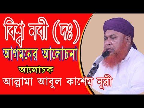 বিশ্ব নবী (দঃ) আগমনের আলোচনা | Allama Abul Kashem Nuri | Bangla Waz | Azmir Recording | 2017