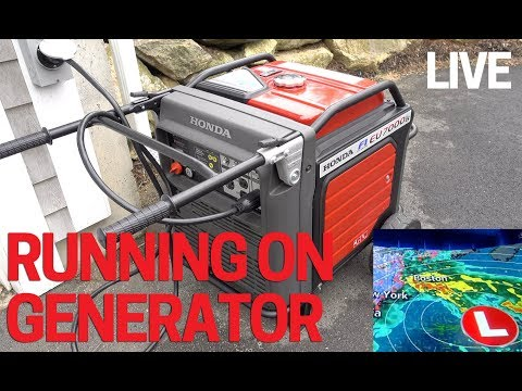 Standy generator to power boiler, on demand hot water etc