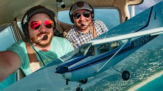Freakin' AWESOME Florida Flying in Cessna 172 Skyhawks | Shuttle Landing Facility | Miami & Key West