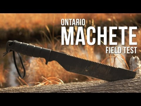 Ontario SPEC PLUS SP8 Machete Field Test