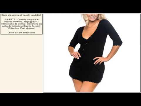 JULIETTE   Camicia da notte in viscosa morbido / Negligé / Intimo notte da donna / Bianche