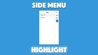 Create a Menu with Active Page Highlight in Ionic