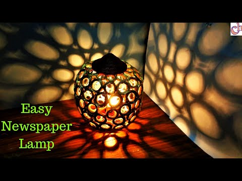 DIY Newspaper Lamp | Diwali Home Decoration ideas