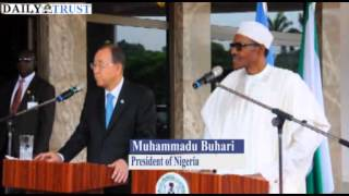 Buhari's speech during Ban Ki-moon visit