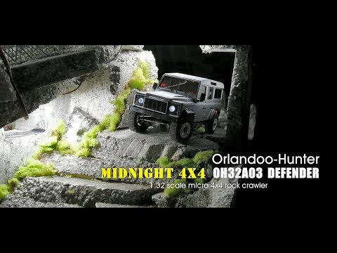 Orlandoo Hunter: 1:32 scale OH32A03 Land Rover Defender - Midnight 4x4