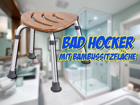 Bad Hocker mit Bambussitzfläche