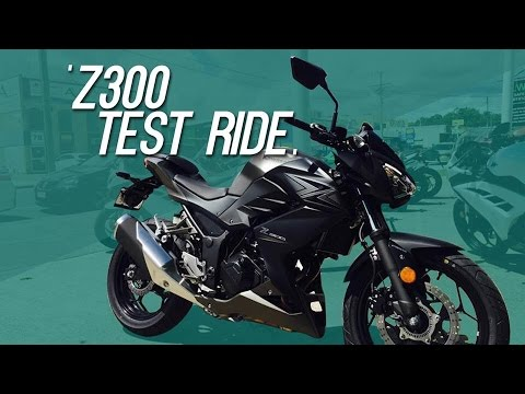 KAWASAKI Z300 test ride || First impression test ride