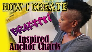 How I Create Graffiti Inspired Anchor Charts For My Classroom. JOY BAZZLE Is AMAZING